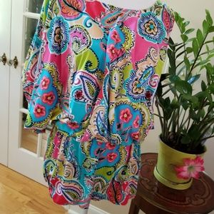 Anne Cole Paisley Floral Print Swimwear Coverup
